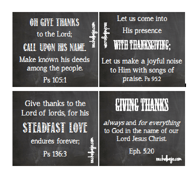Printable Thanksgiving Bible Verse Cards