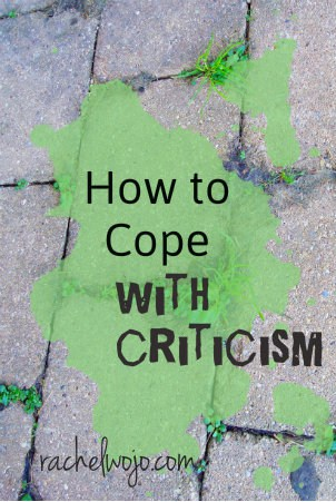 ways to cope with criticism