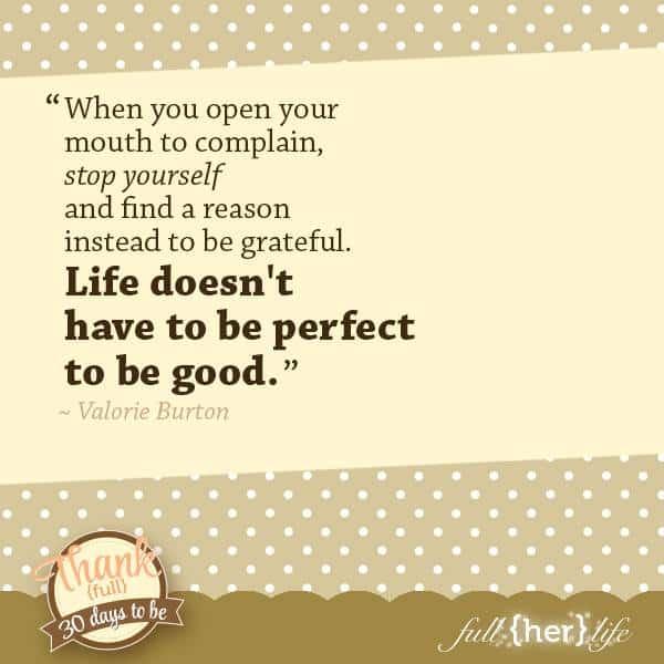 Because Life Isn't Perfect