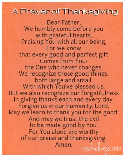 thanksgiving prayer after fasting