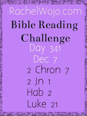 Bible Reading Challenge Day 341