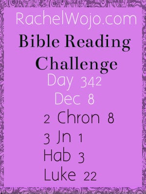 Bible Reading Challenge Day 342
