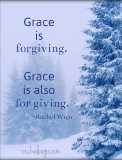 grace is for giving