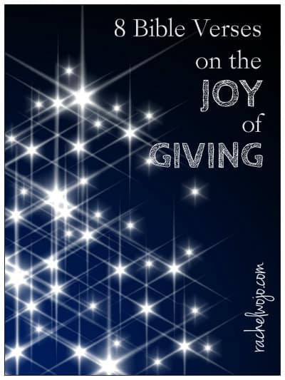 8 Bible Verses On the Joy of Giving