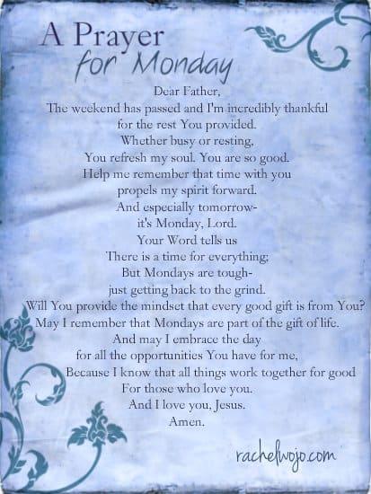 prayer for Monday