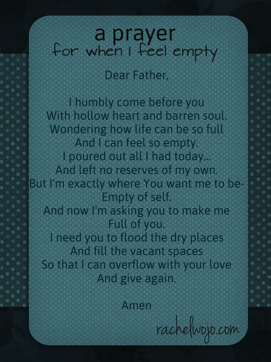 prayer for when I feel empty