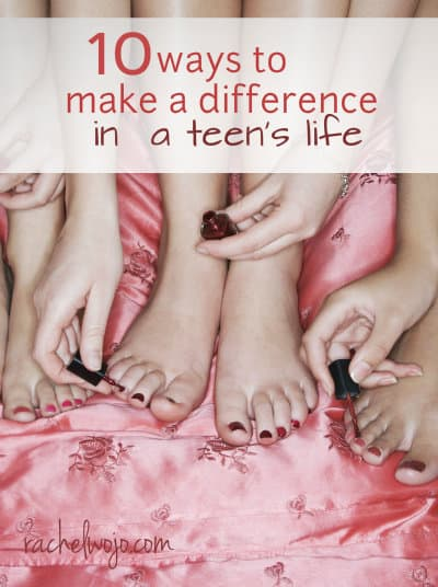 10 Ways to Make a Difference in a Teen's Life