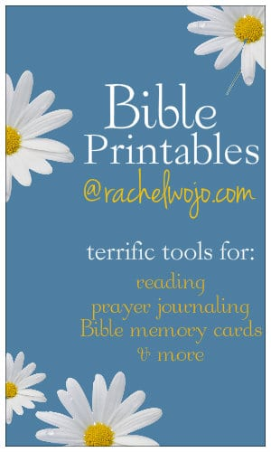 Bible Printables - RachelWojo.com