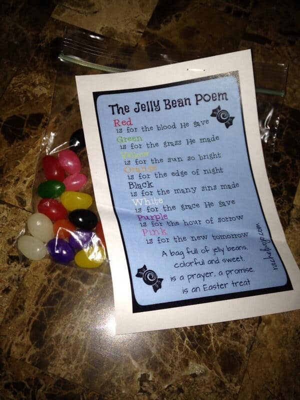 Jelly Bean Poem & Easter Gift