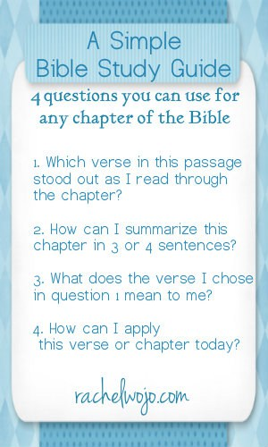 simple bible study guide two bookmark