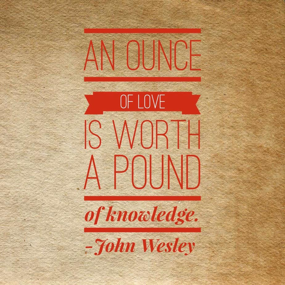 an ounce of love is worth more