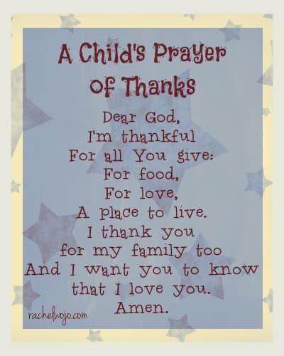 A Child's Prayer Of Thanks & 12 Little Blessings Book