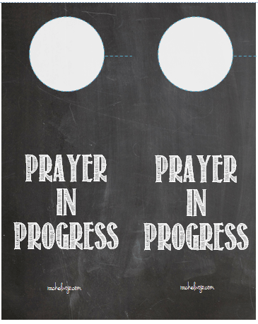 prayer in progress