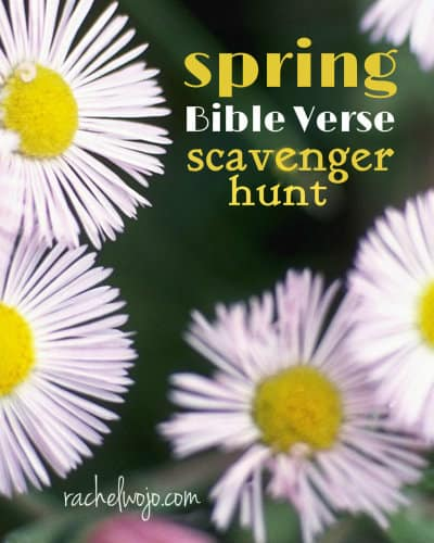 Don't miss a ton of fun with this spring Bible verse scavenger hunt! Read the verses to find the clues.