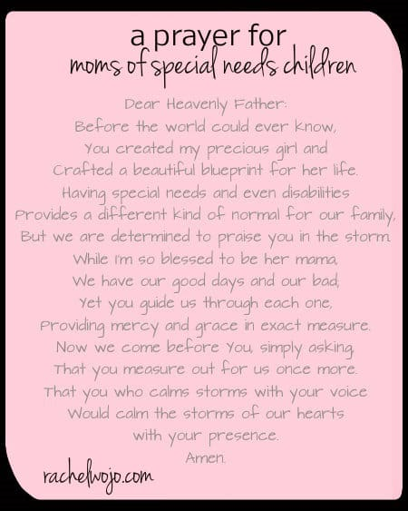 A Prayer for Special Needs Moms & Whimsical Wednesday ...
