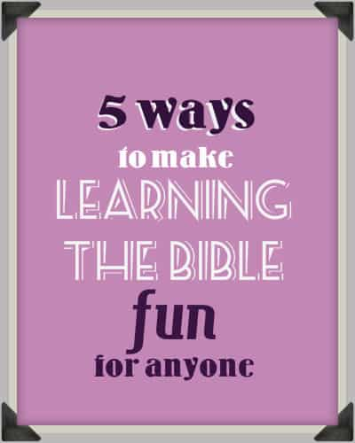fun learning the bible