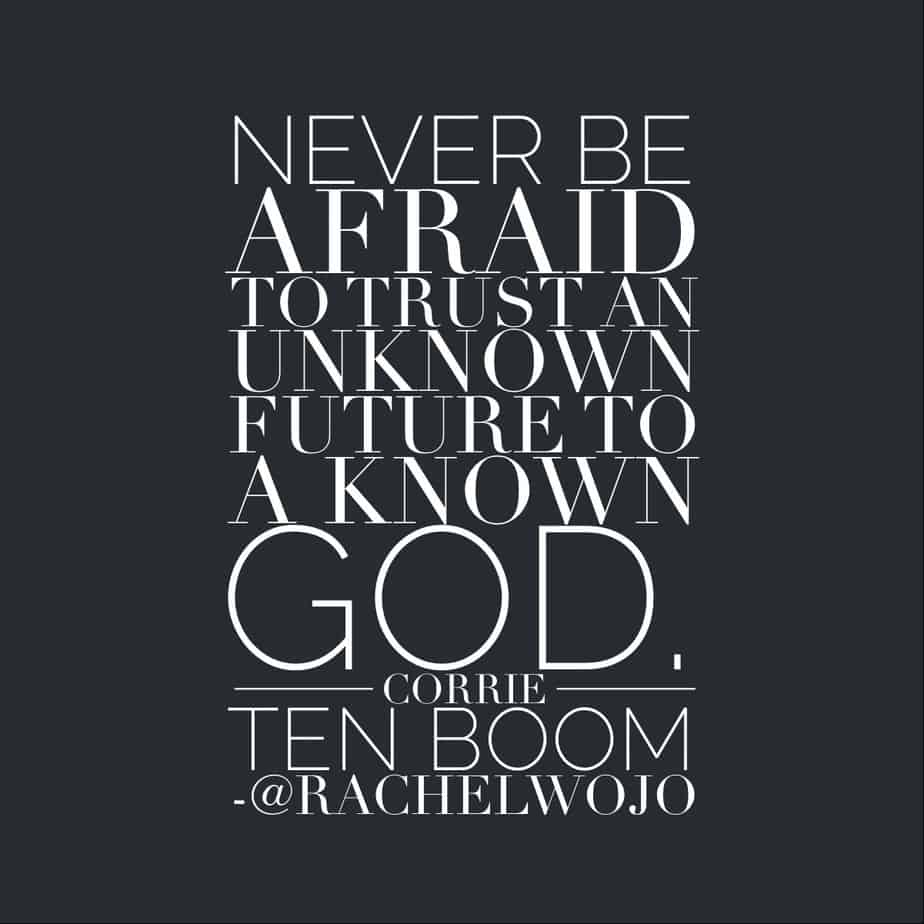 trusting God corrie