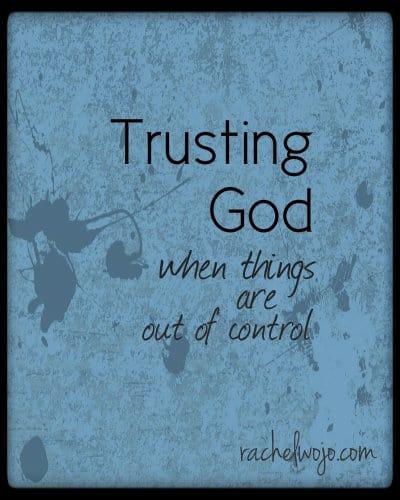 trusting god when