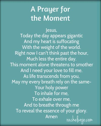 prayer for the moment