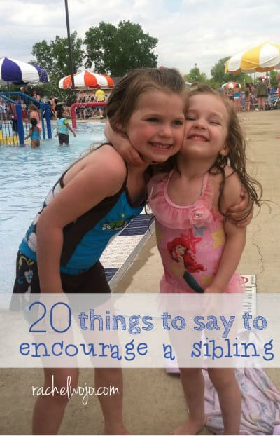 things to say to beat sibling rivalry