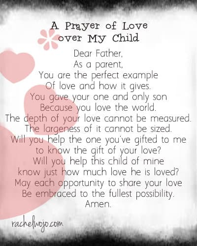 prayer of love over my child