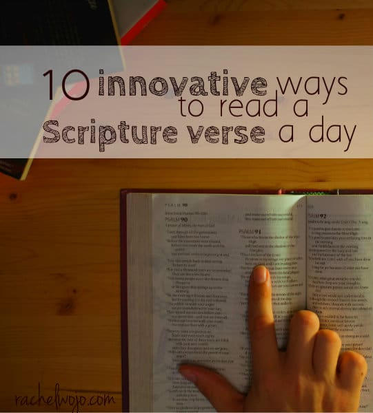 ways to read a verse a day