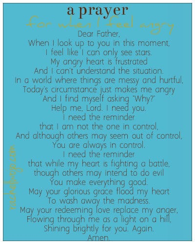 a prayer for when i feel angry