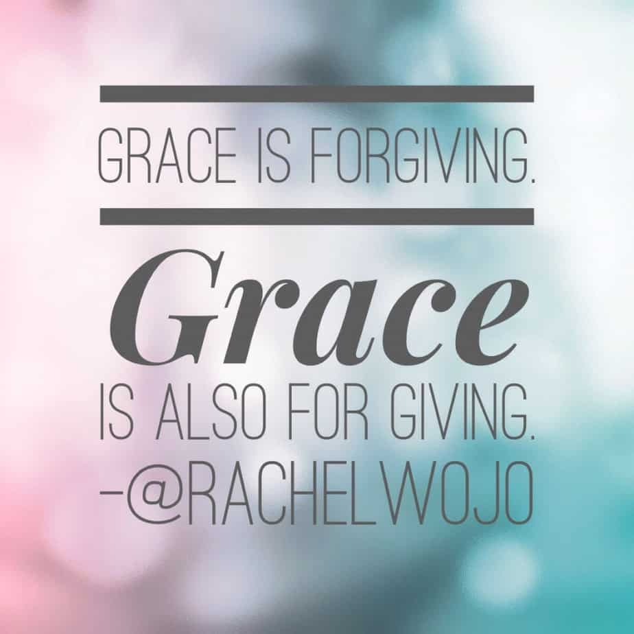 grace is forgiving