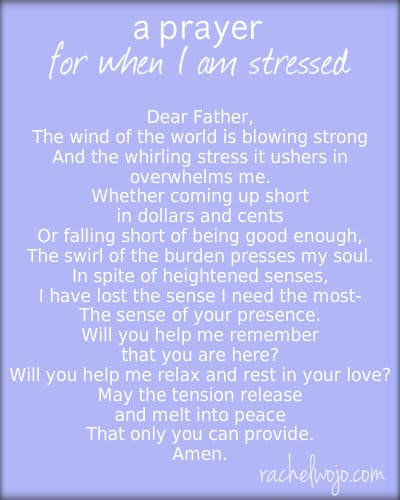prayer for when I am stressed