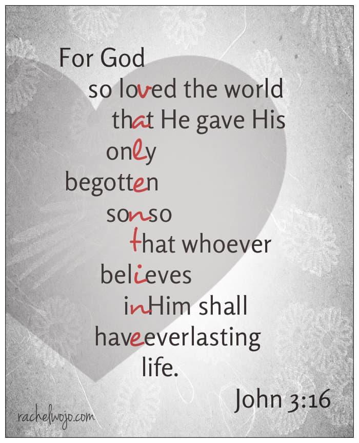 Free Valentine Bible Verse Printable