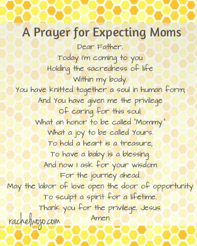 prayer for expecting moms