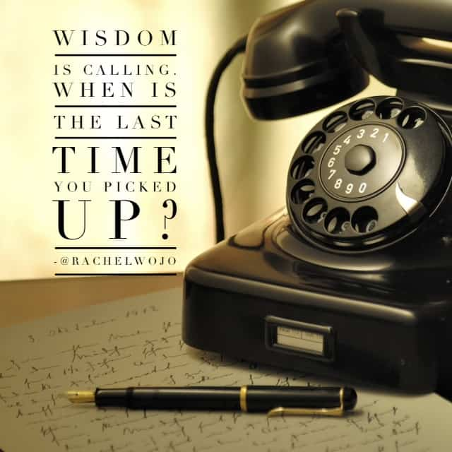 wisdom is calling