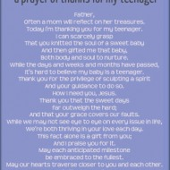 A Prayer of Thanks for My Teenager