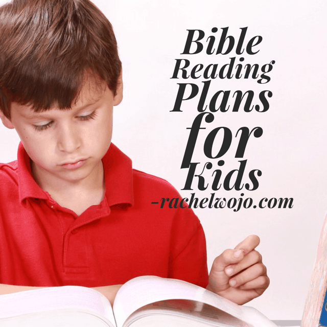 bible reading plans for kids