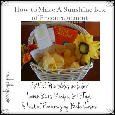 How to Create a Sunshine Box of Encouragement