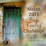 march Bible reading challenge