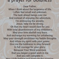 A Prayer for Boldness