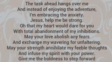 a prayer for boldness