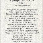 a prayer for focus