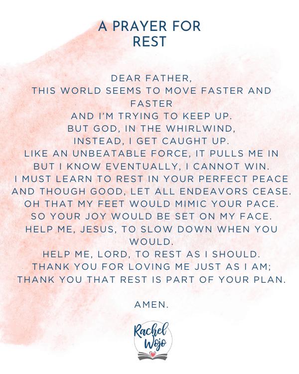 A Prayer for Rest