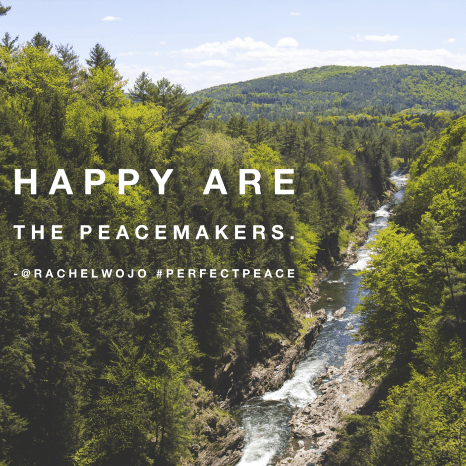 happy are peacemakers