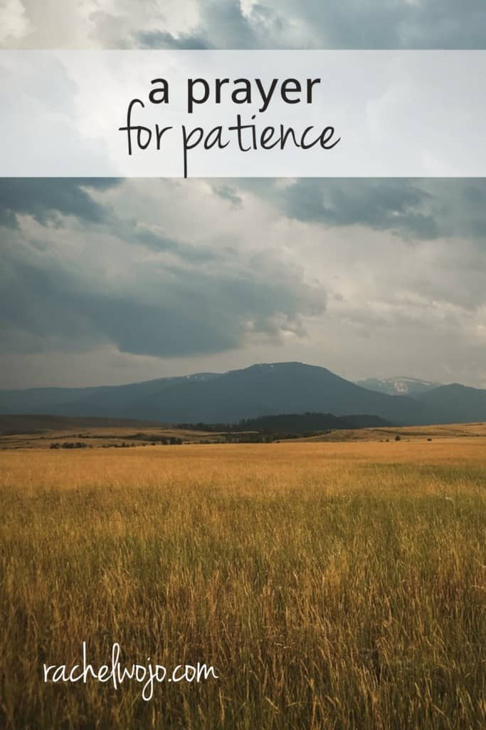 Need a little more patience? Me too. Let's pray for it!