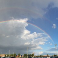 beautiful double rainbow square