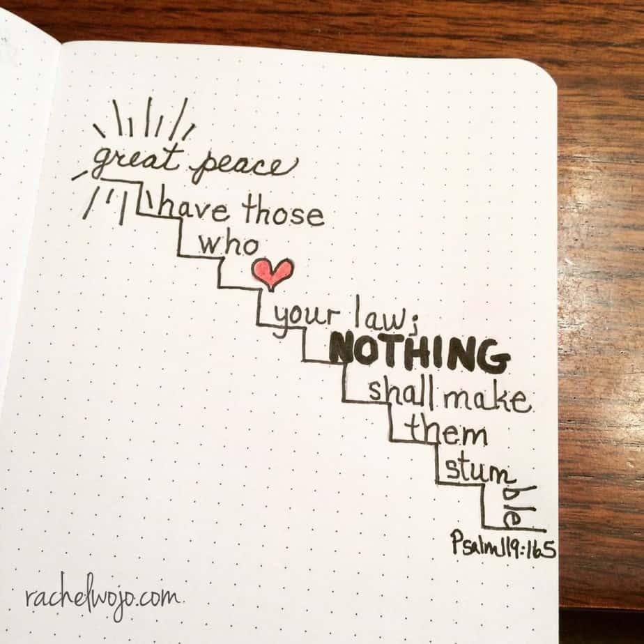 Nothing shall make them stumble. #perfectpeace #onemorestep