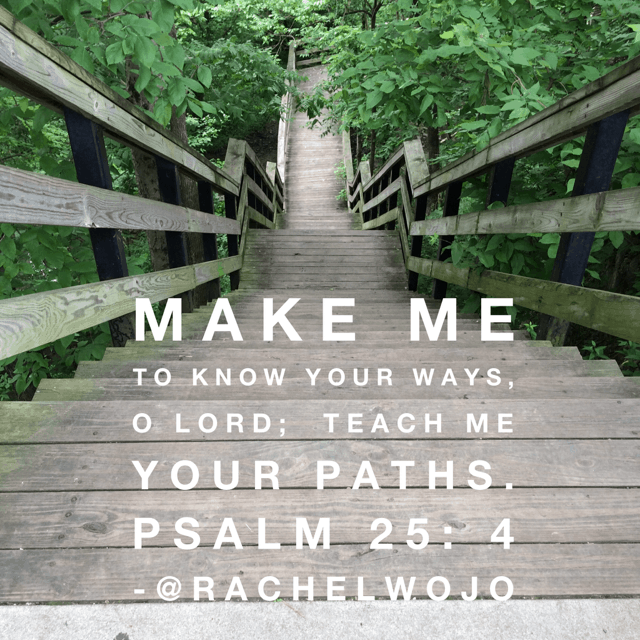 His paths. Not mine. Because mine are filled with worry and doubt. His overflow with peace and confidence.