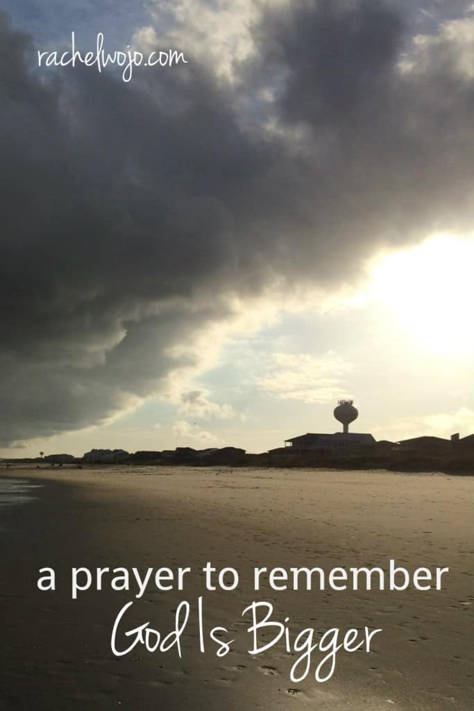 Have you ever thought about the power of praying Scripture back to God? The #GodIsBigger Bible reading plan has inspired me to write this prayer for remembering God is bigger than whatever comes my way today.