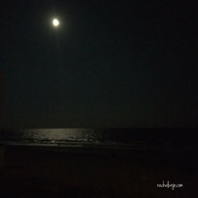 Moon over ocean. #GodIsBigger
