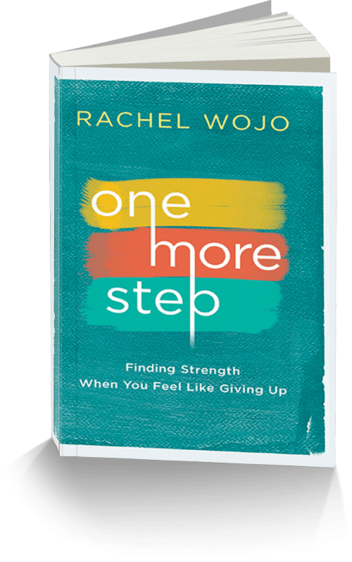 How do you  keep going when everything is going wrong? one step at  a time. One More Step is a message of hope and encouragement for those who feel they can't go on. Using the never-failing promises in God's Word, Rachel Wojo shows you how you can discover the strength to push through your pain and persevere when you'd rather just give up.