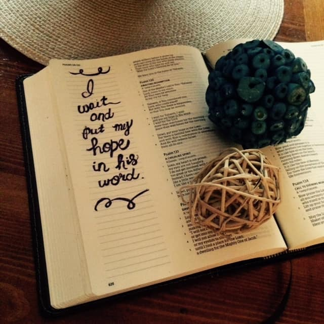 What do we do while we are waiting? Put our hope in God's Word!! #WaitingOnGod
