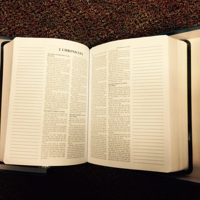 esv journaling bible open